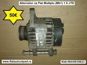 Alternator za Fiat Multiplu (Mk1) 1.9 JTD